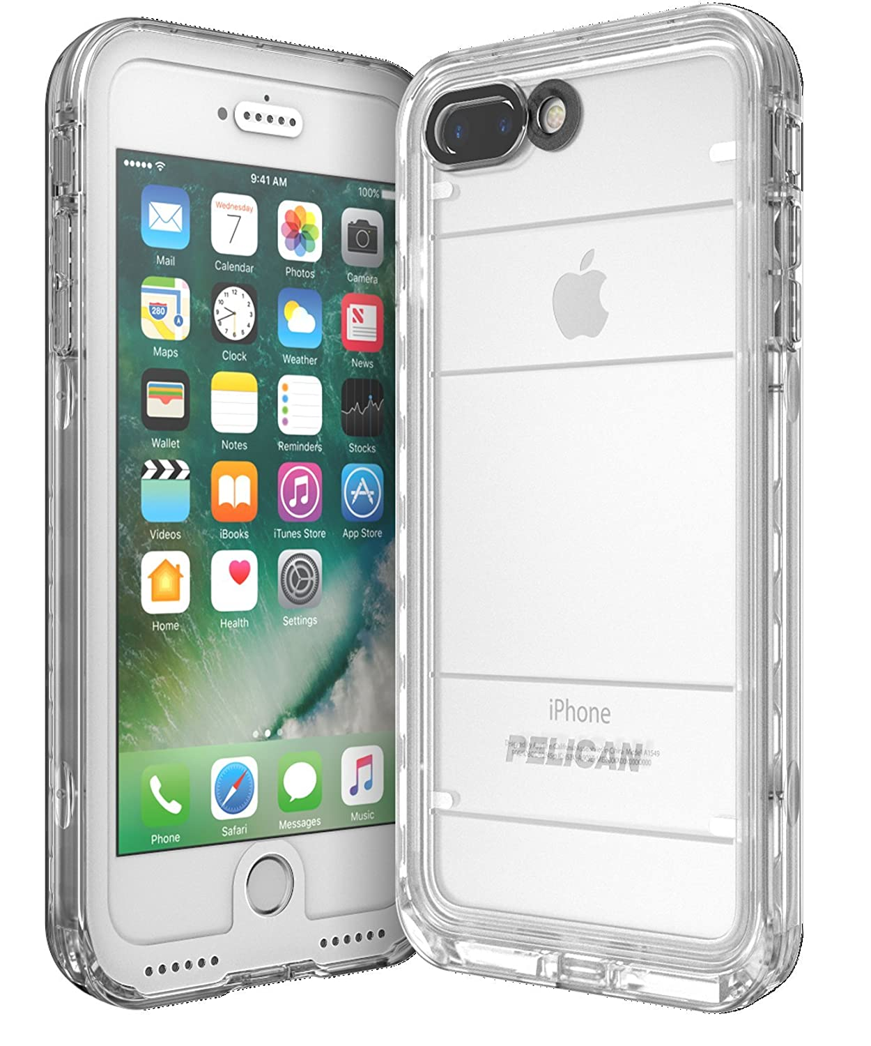 amazon com pelican cell phone case for apple iphone 7 plus whiteamazon com pelican cell phone case for apple iphone 7 plus white clear cell phones \u0026 accessories