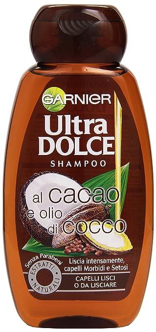 18 opinioni per Garnier Ultra Dolce al Cacao e Olio di Cocco Shampoo per Capelli Lisci o da