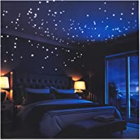 Glow In The Dark Stars Wall Stickers, 252 Dots and Moon for Starry Sky, Perfect For Kids Room,Beautiful Wall Decals,for any Bedroom or Living room by LIDERSTAR,Delight The One You Love.