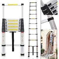 Smarty Ultra-Stable Aluminium Folding Telescopic Ladder (3.2 m/10.5 ft)