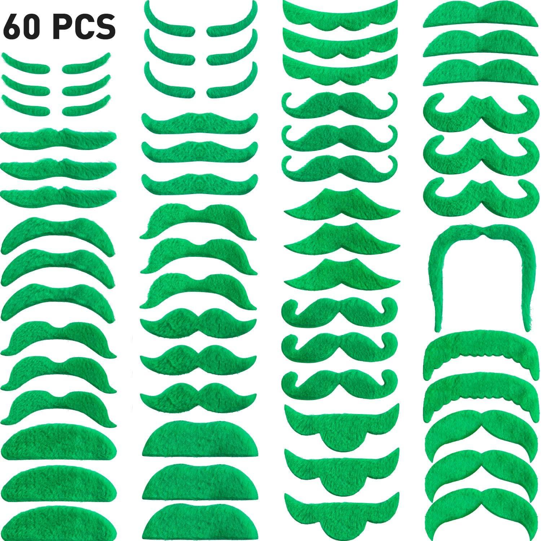 Green Mustache Beard St Patrick/'s Day decorations Self Adhesive