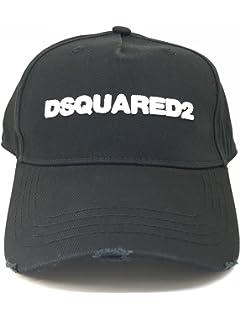 Dsquared2 Dsquared Cappello Baseball Uomo Gabardine Nero Bianco 1a63ddc6175d