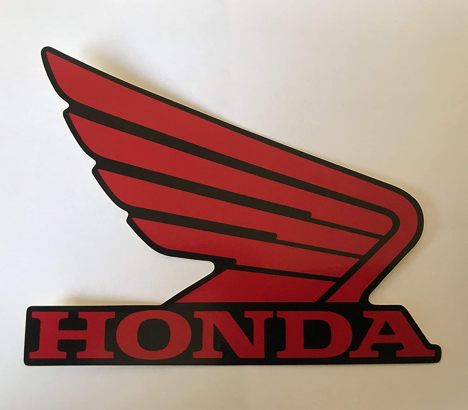 Honda Wings Fuel Tank Gas Tank Stickers Decals 2 X 95mm Red//White Left /& Right Genuine Original