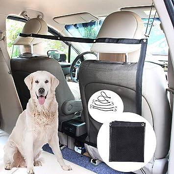 DUTISON Perros Red Auto Universal Organizador Red de Seguridad Corte Red Entre Mascotas y Conductores Red