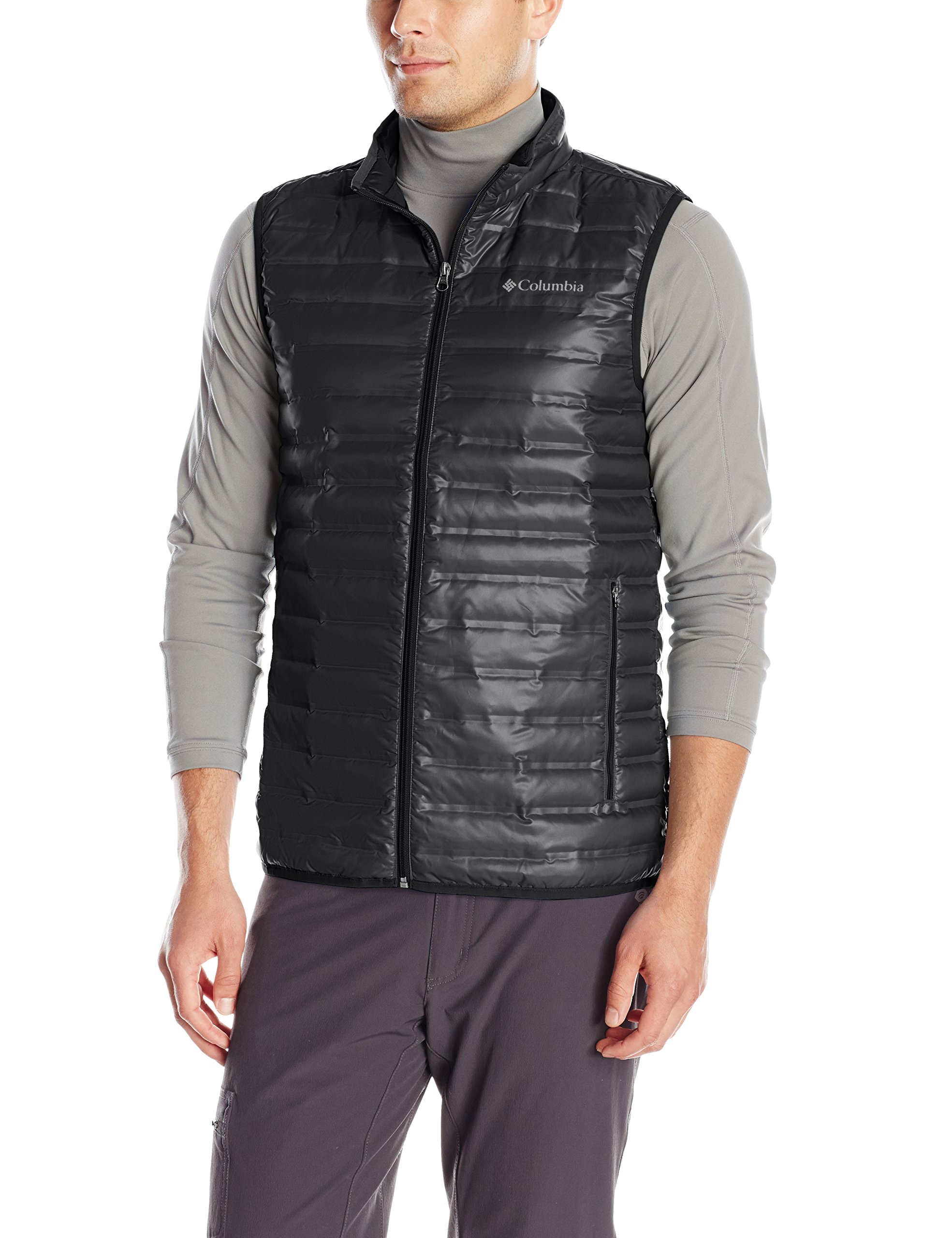 Columbia Sportswear Men's Flash Forward Down Vest, Black, X-Large by Columbia