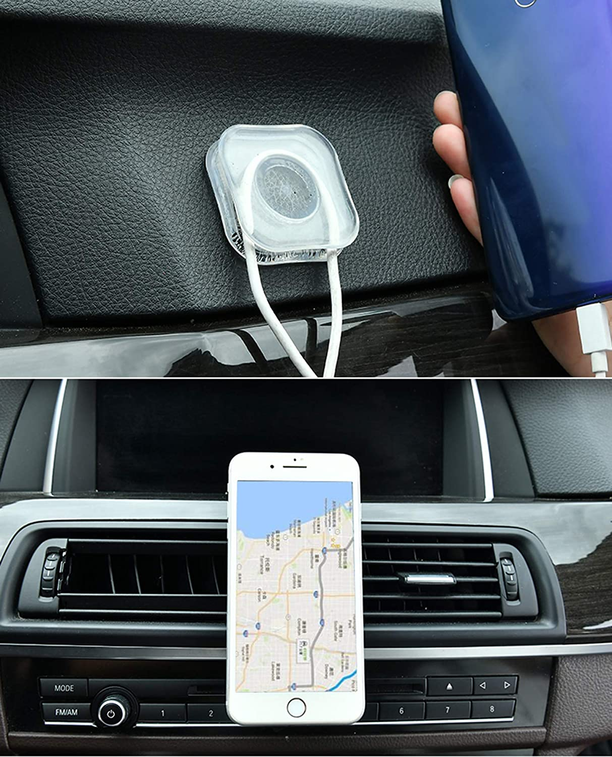 Circular X 2PIC Premium Nano Gel Pad Traceless Magic Stickers,Washable Multi-Functional Universal Sticky Car Phone Holder,Application for Car,Home,Office Storage of Various Small Device and Items