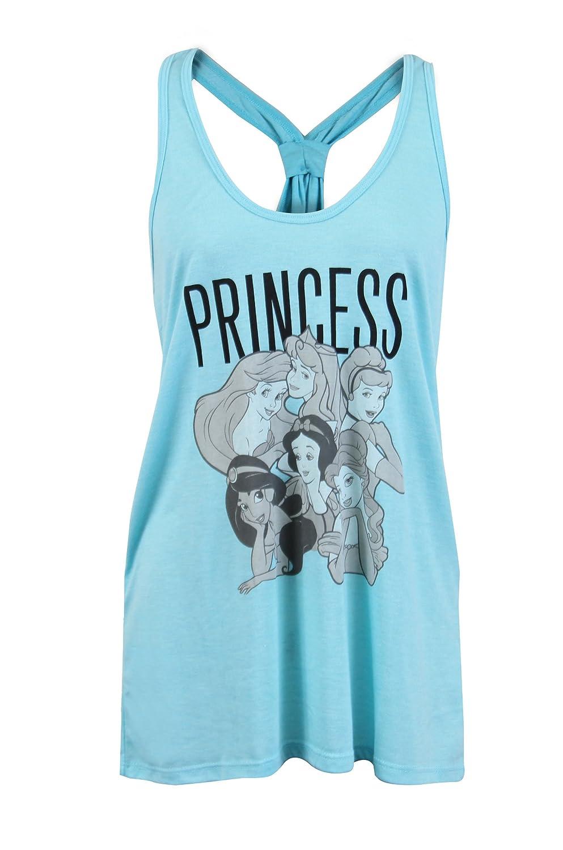 City Disney Princess Graphic Tie Knot Sleeveless Tank Top