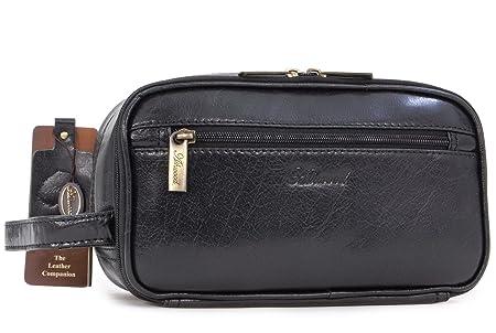 Ashwood Wash Bag   Shaving Bag - Chelsea - Black Leather  Amazon.co.uk   Luggage b5127cb559