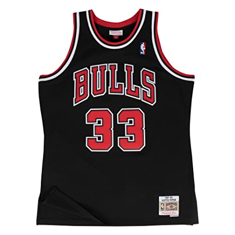 Mitchell & Ness Chicago Bulls 33 Scottie Pippen Swingman Retro Camiseta Jersey, ...