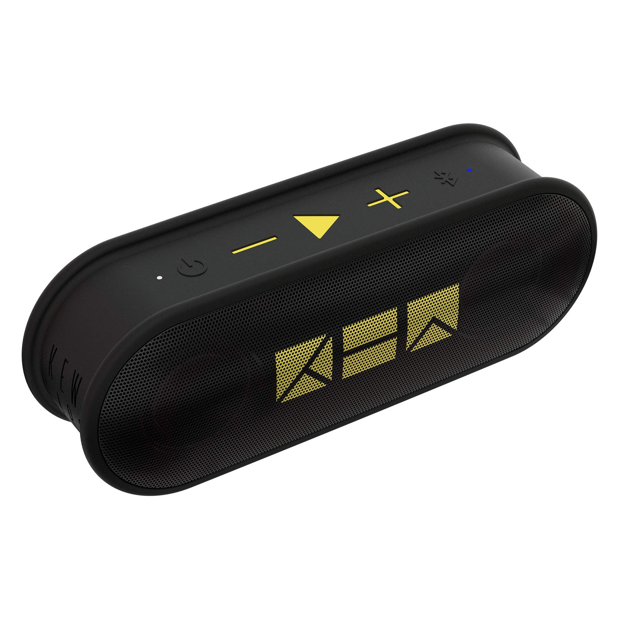 Kew Labs K1 Wireless Portable Bluetooth Speaker - Premium Quality Sound and Bass - Waterproof Pill Design - 12hr Battery Life - Featuring Built-in Mic for Calls (Black) by Kew Labs