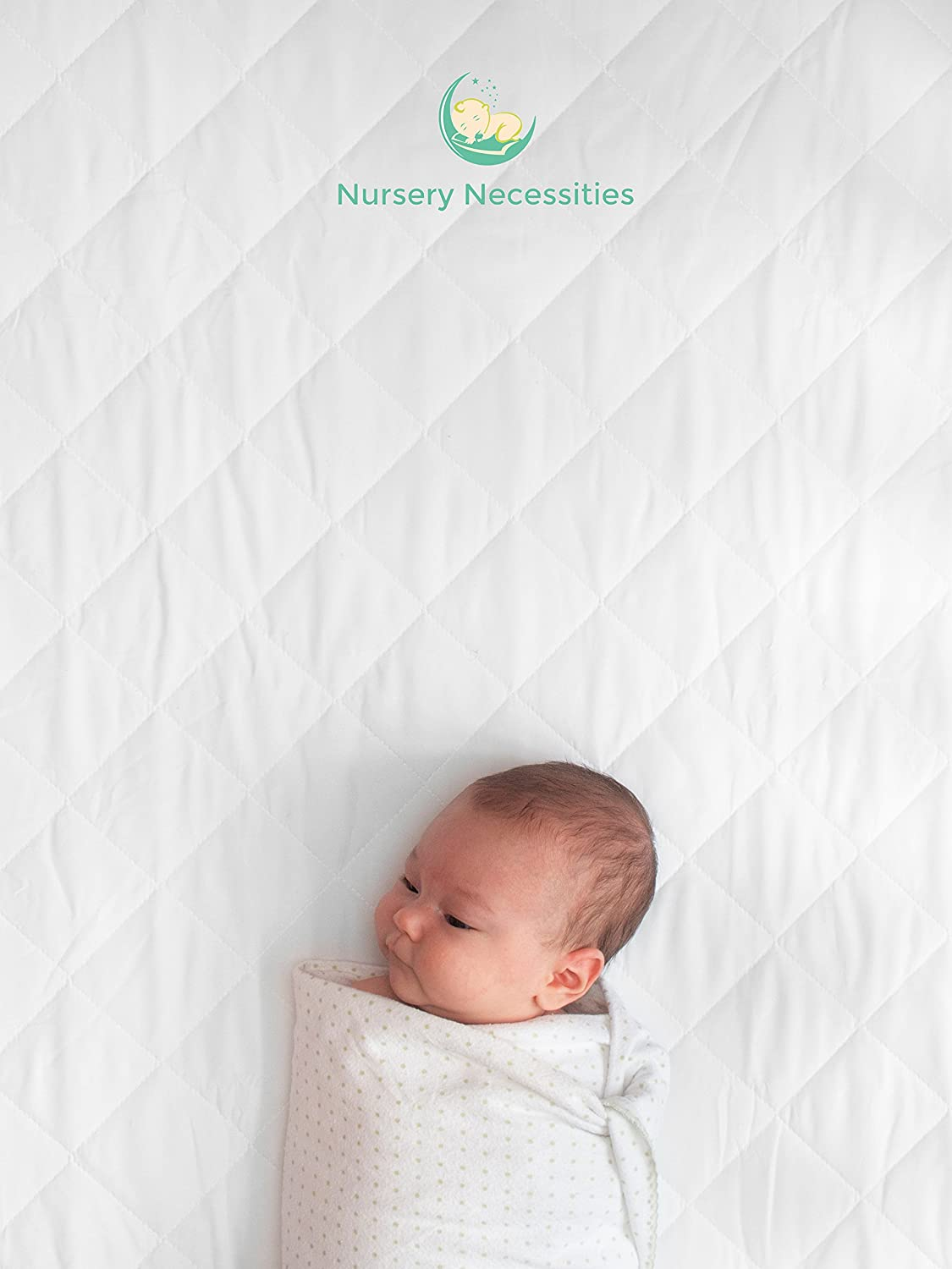 Amazon.com : #1 BEST Crib Mattress Pad - Waterproof, Silky Soft,  Hypoallergenic, Breathable - Helps Regulate Body Temp- Mattress Protector  by Nursery ...