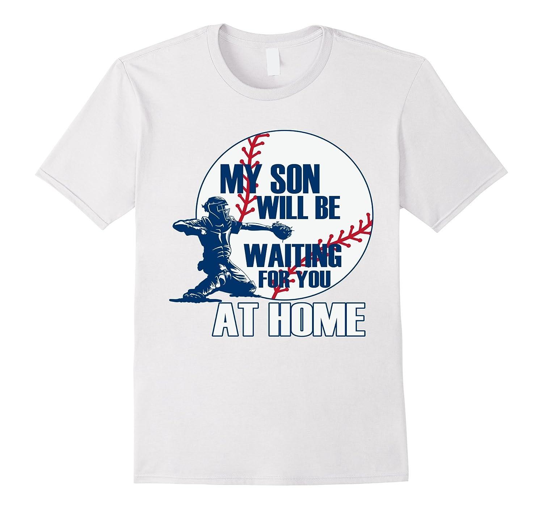 18e30acf BASEBALL MOM DAD, MY SON IS A CATCHER T SHIRT-BN – Banazatee
