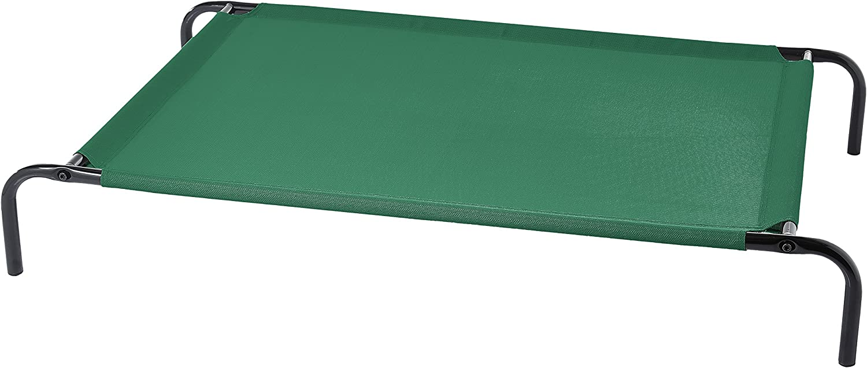 AmazonBasics - Cama para mascotas anticalor elevada, L, Verde