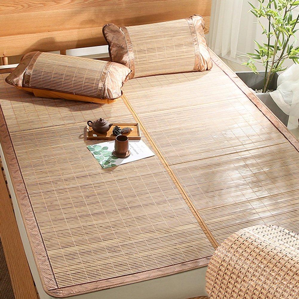 WENZHE Bambus Matratzen Sommer-Schlafmatten Strohmatte Teppiche Beidseitig Falten Glatt Keine Störung, 2 Arten, 5 Größen