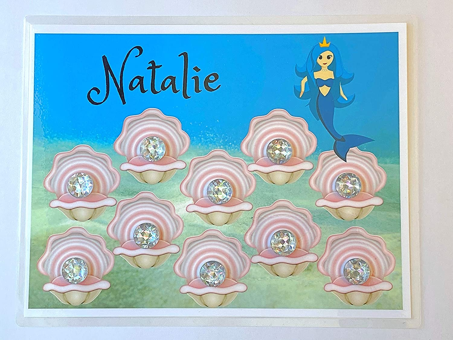 Mermaid Behavior Chart Made with Your Childs Name Help Millie the Mermaid Tend Her Prize Oysters