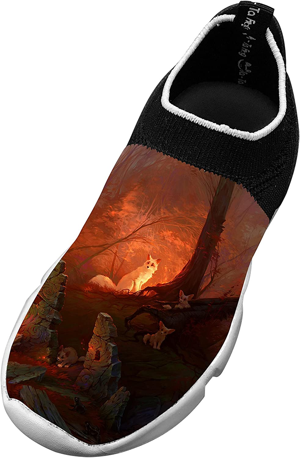 New Awesome Flywire Knitting Sports Shoes 3D Custom Made With Fox Forest For Boys Girls
