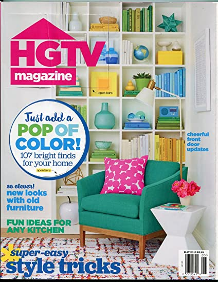 HGTV Magazine May 2016  Decoration  DIY  Color Styles  Outdoor  House