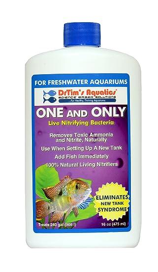 Aquatics del drtim One & Only Live Nitrifying Bacteria para ciclismo agua dulce Aquaria