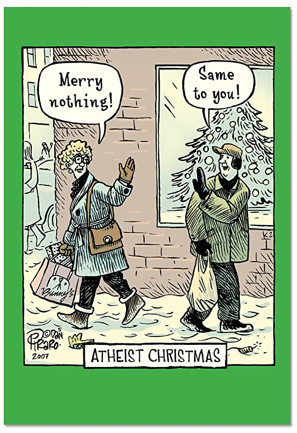 Amazon.com : 12 Boxed \'Atheist\' Christmas Cards with Envelopes (4.75 ...