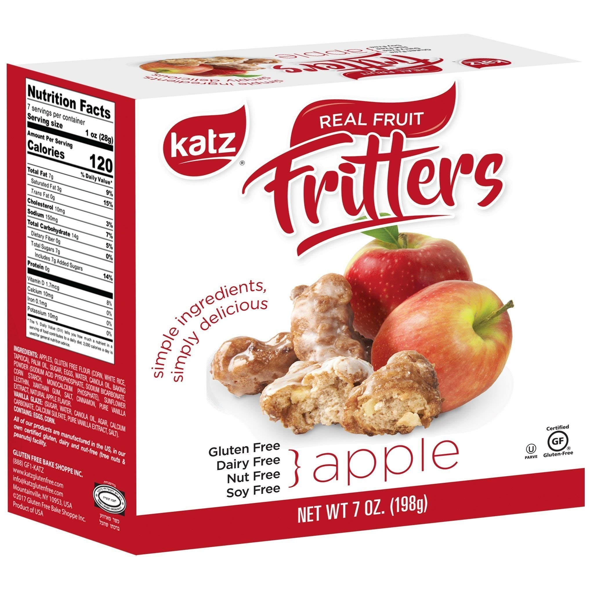 Katz Gluten Free Apple Fritters | Dairy, Nut, Soy and Gluten Free | Kosher (6 Packs, 7 Ounce Each) by Katz Gluten Free