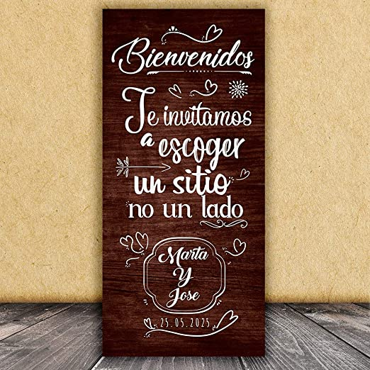 Decoración Boda | Cartel Boda Sitio | 70cm x 150cm: Amazon ...