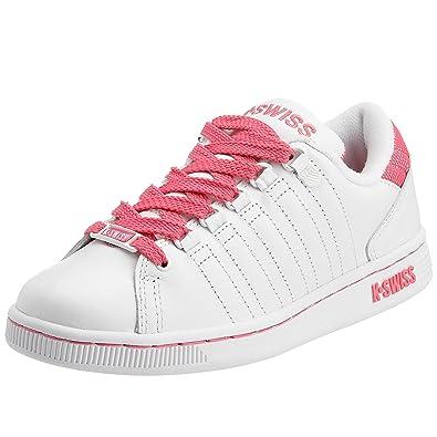457c37b80a9 K-Swiss Women's Lozan Tongue Twister Trainer White/Hot Pink 9660-884 ...