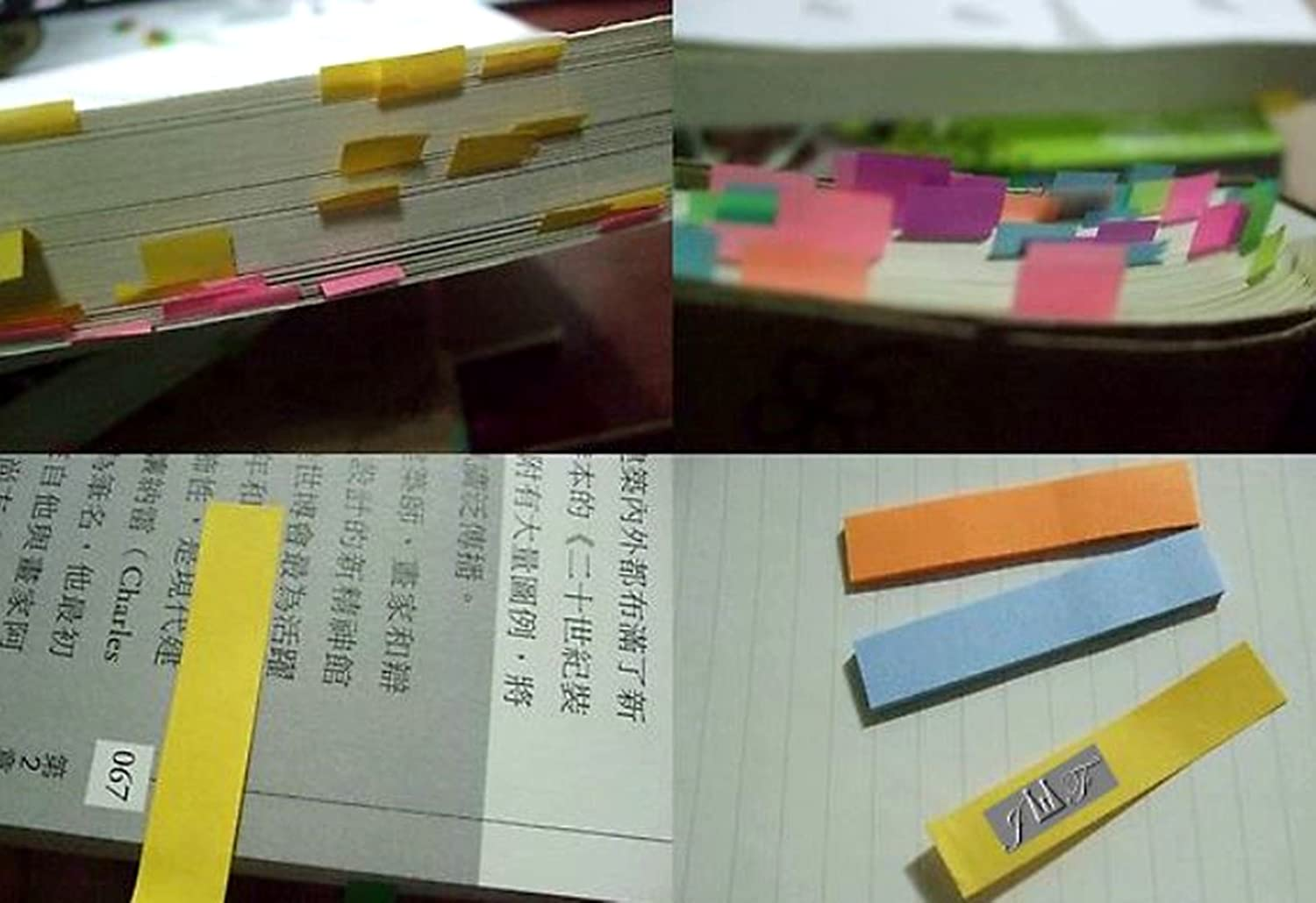 Sticky Notes Flags Index Tabs Writable Labels Page Marker Bookmarks Text Highlighter Strips Assorted Neon Bright Colors Stick on Note.