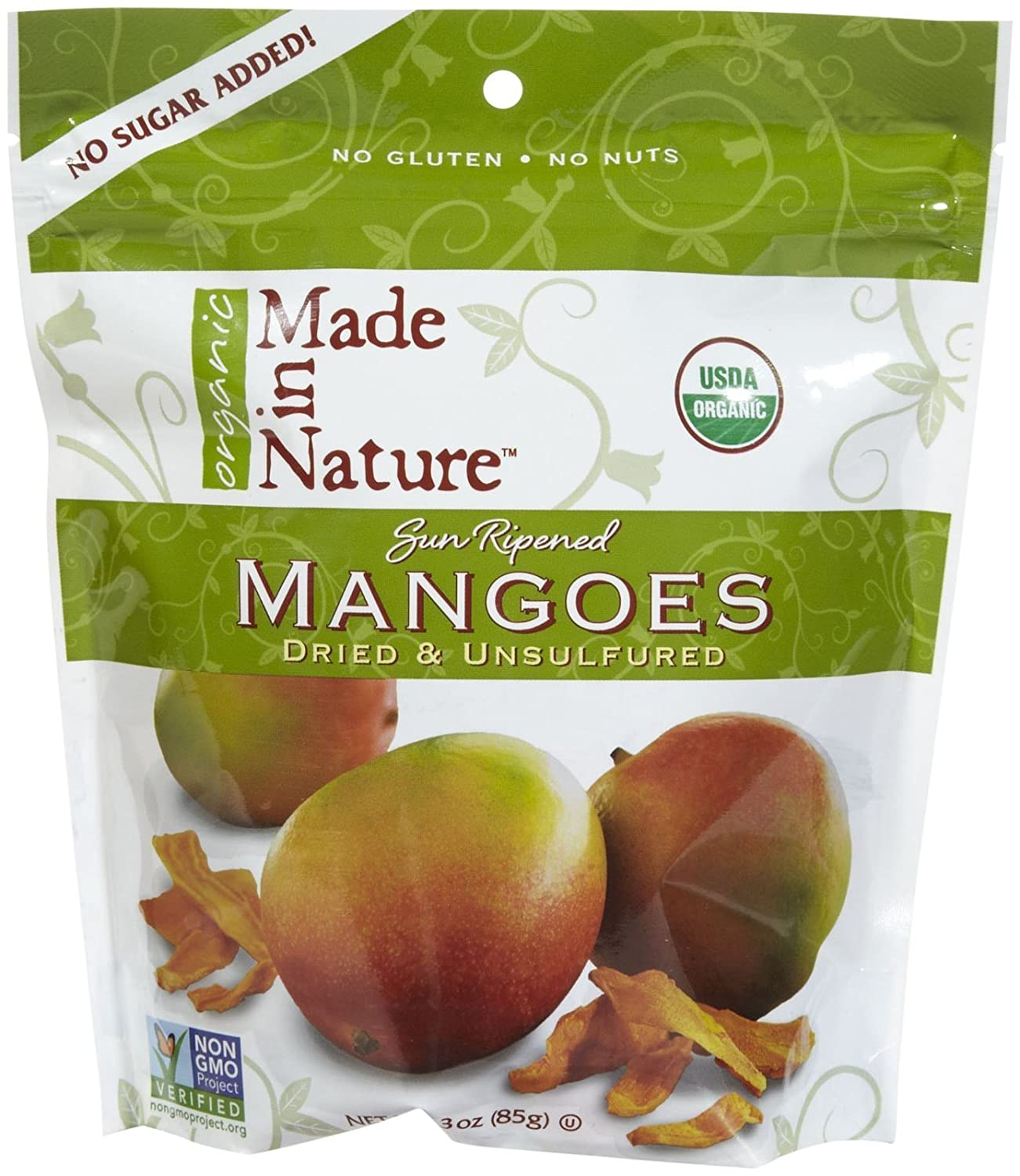 Made In Nature Organic Dried Mangos, 3 oz