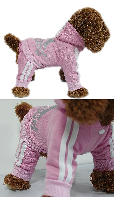 Scheppend Adidog Mascota Ropa para Perro Gato Perrito Sudaderas con Capucha Coat Primavera oto/ño /& Invierno Sudadera