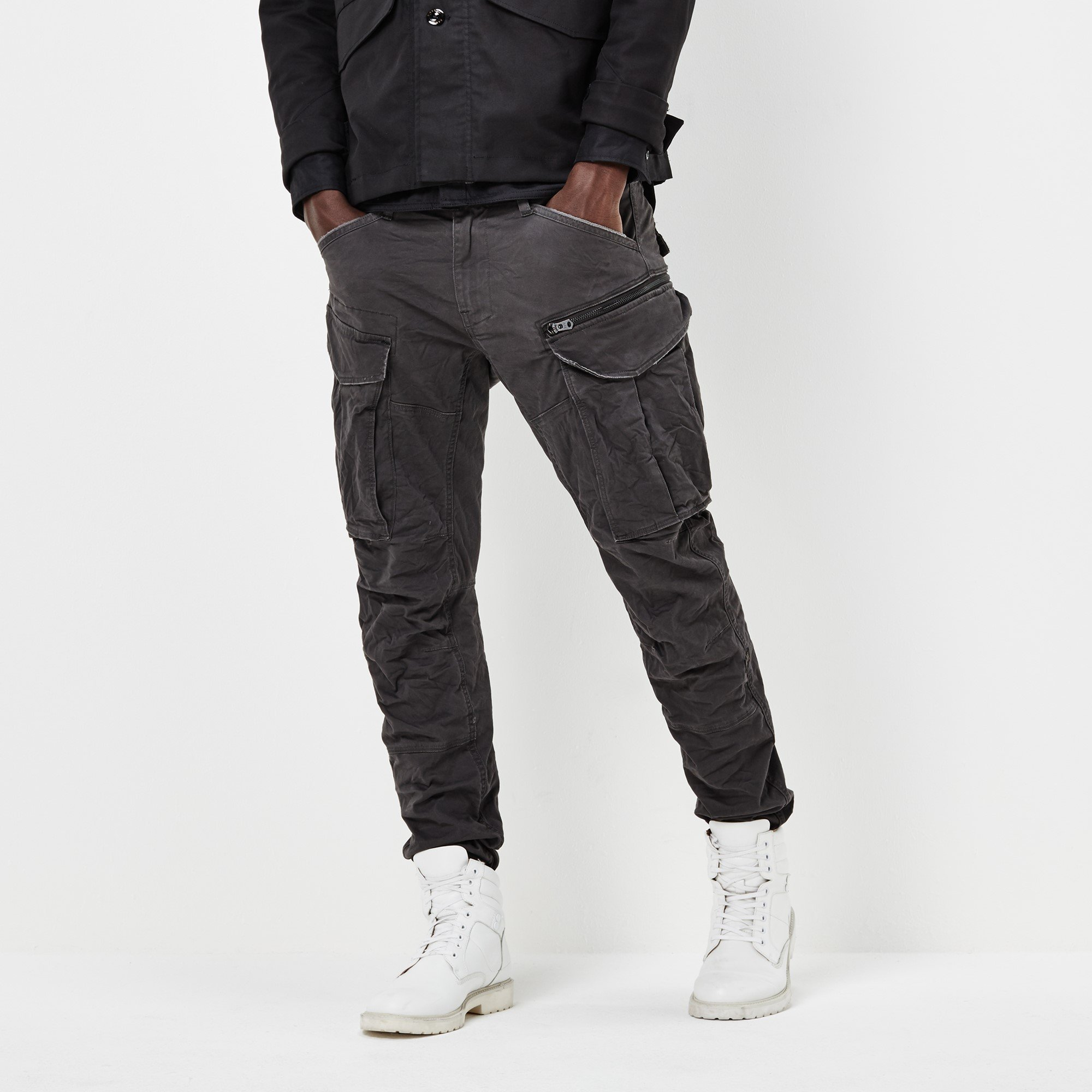 G-Star Raw Men's Rovic Zip 3d Tapered, Raven, 38x34 by G-Star Raw (Image #1)