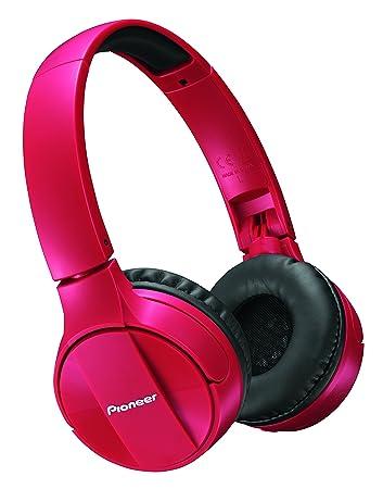 Pioneer SE-MJ553BT-R Bluetooth Wireless Headphone - Red  Amazon.co.uk   Electronics 8afae44dd3