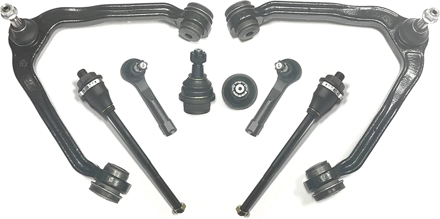 8pc Upper Control Arm Front Suspension Kit Tie Rod for GMC Yukon Chevy Tahoe