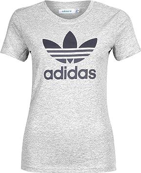 44d273842b adidas Originals Trefoil T-Shirt pour Femme XXS Gris: Amazon.fr ...