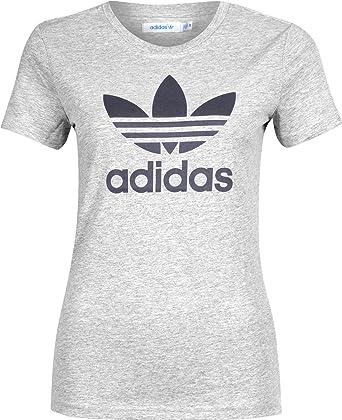 875b688c2402c adidas Originals Trefoil - Camiseta de Tiempo Libre y Sportwear para Mujer   Amazon.es  Ropa y accesorios
