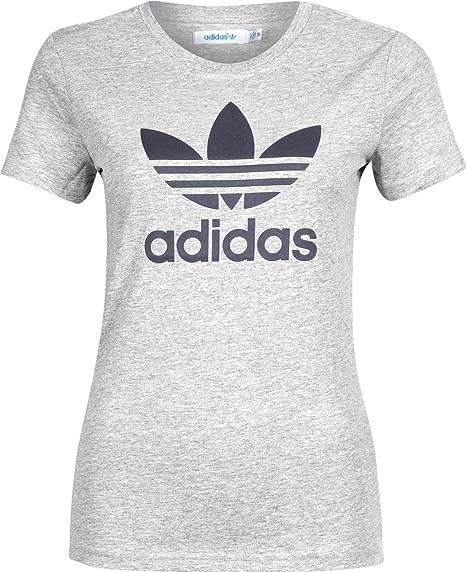 Adidas Originals trefoil - Camiseta de tiempo libre y sportwear para mujer: Amazon.es: Ropa y accesorios