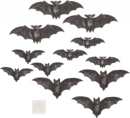 Martha Stewart 30034329 Paper Bat Silhouette D/écor Halloween Decor