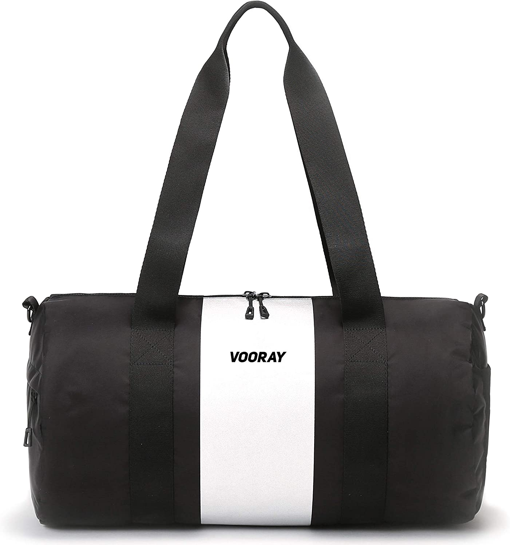 Vooray Iconic 27.5L Womens Gym Bag Duffel (Silver Stripe)