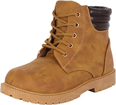 Amazon.com | Rugged Bear Boys Lace Up Work Boot | Boots