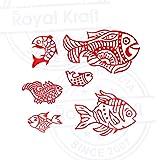 Pottery Printing Blocks Retro Fish Pattern Wooden