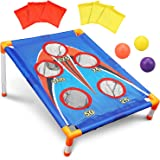 TOY Life Kids Cornhole Outdoor Games - Bean Bag Toss Game for Kids - 5 Holes Portable Cornhole Outdoor Game Set with 6 Bean B
