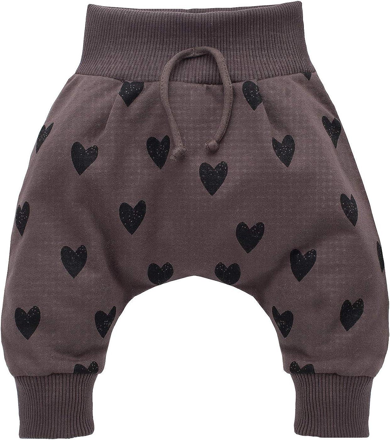 Little Bird Pantaloni Bimba Bambina Baby Marrone con Cuore 100/% Cotone Harem Pantaloni Baggy 62-104 cm Pinokio