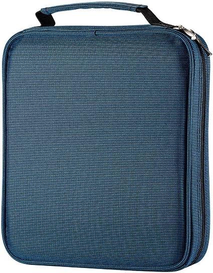 Estuche UTRO de tela oxford, de gran capacidad (120 lápices normales), con asa , color azul: Amazon.es: Oficina y papelería