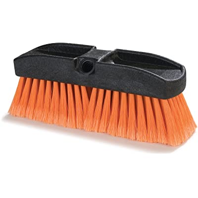 "Carlisle 36122224 Flo-Thru Window Brush, Polystyrene Bristles, 2-1/2"" Bristle Trim, 10"" Length, Orange: Industrial & Scientific"