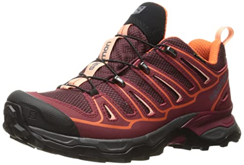 Salomon Womens X Ultra 2 GTX W Trail Runner, Fig/Tibetan Red/Flame