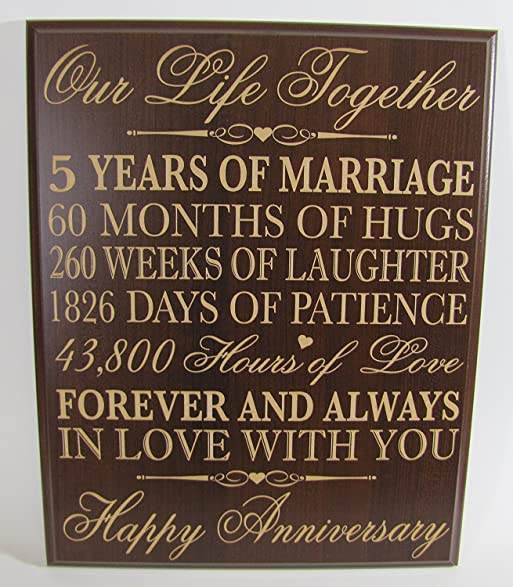 5th Wedding Anniversary Cherry Wall Plaque Gifts For Couple Her