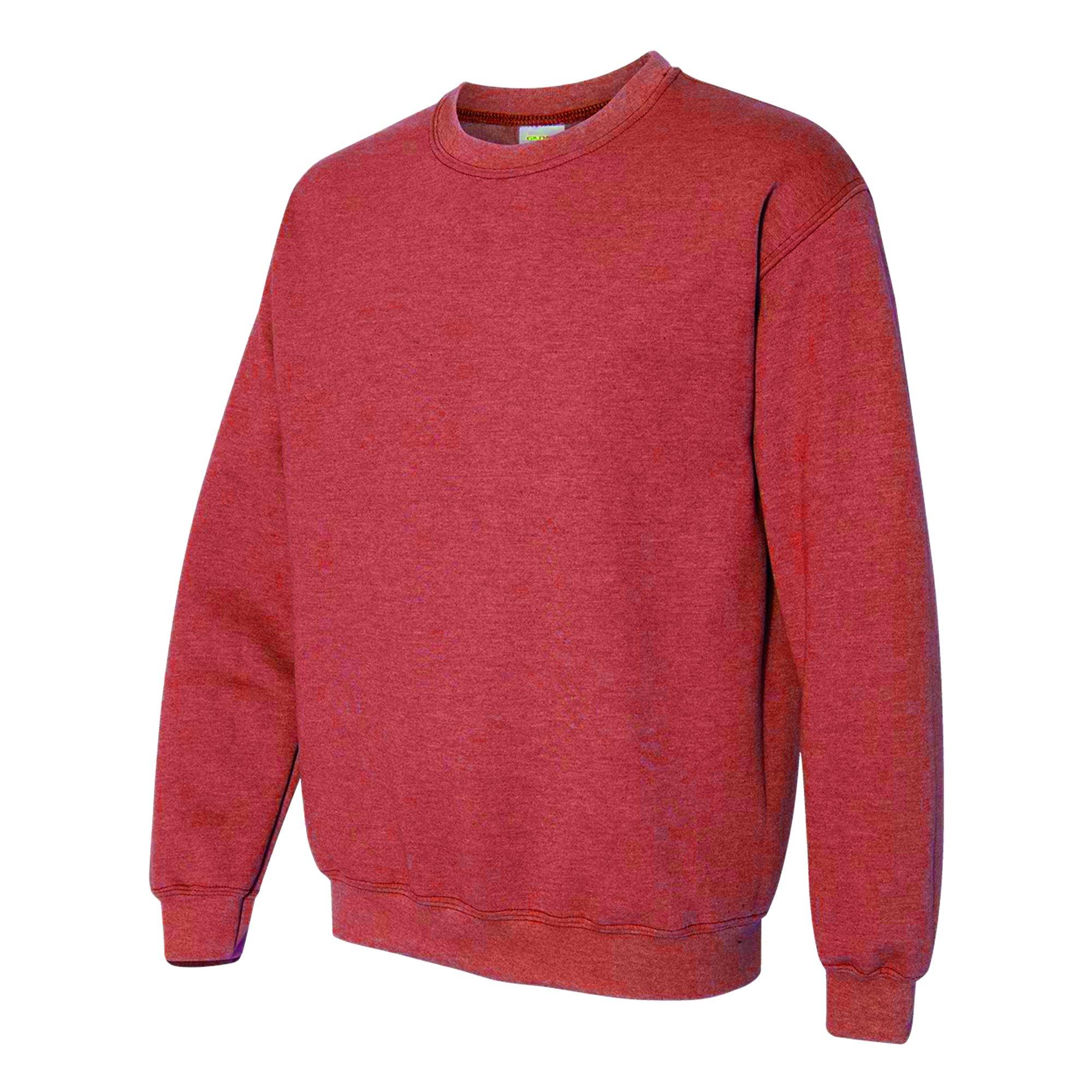 Gildan Heavy Blend Unisex Adult Crewneck Sweatshirt (XL) (Heather Sport Scarlet Red)