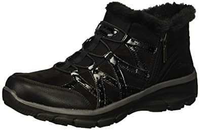 f9497eef6f1b Skechers Women s Easy Going-Tribune-Double Zipper Bungee Bootie with  Air-Cooled Memory