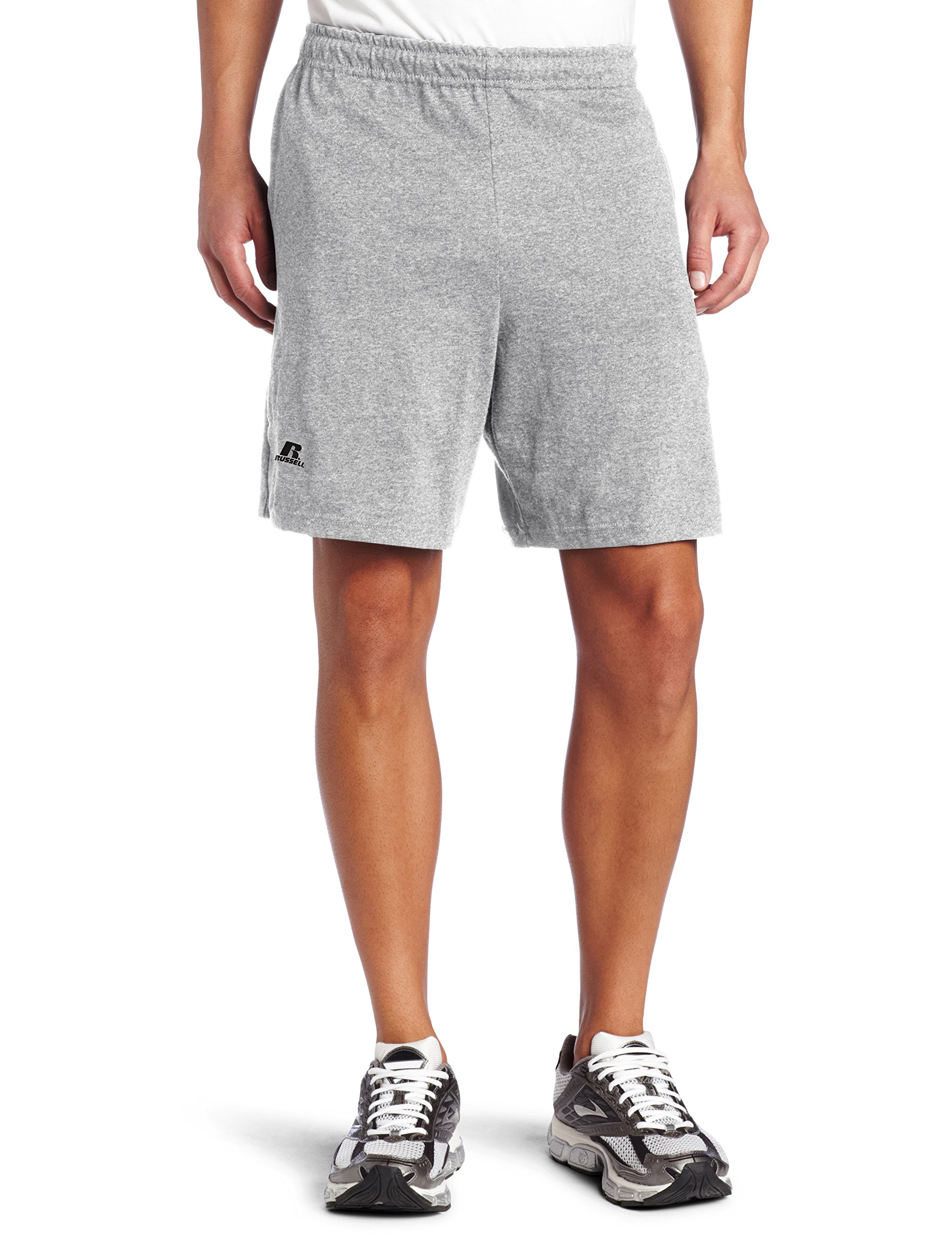 Russell Athletic Men's Cotton Baseline Short with Pockets, Oxford, 3X-Large
