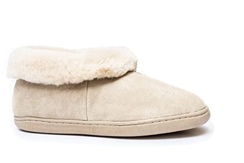 Reissner Lammfelle Pantofole Pelle di  Pecora Creta (100% Pelliccia d   di 53f4bf