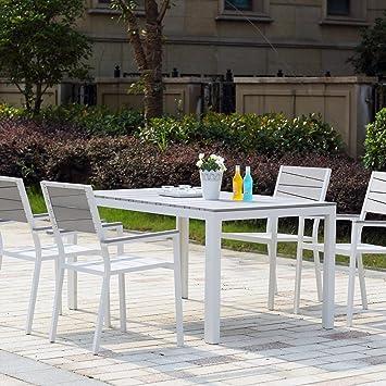 Concept-Usine Siderno 4 : Salon de jardin en aluminium et polywood ...